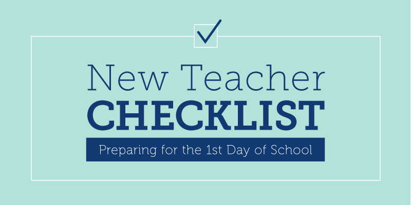 New Teacher Checklist