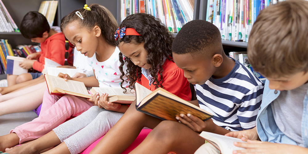 Children reading, teaching best practices