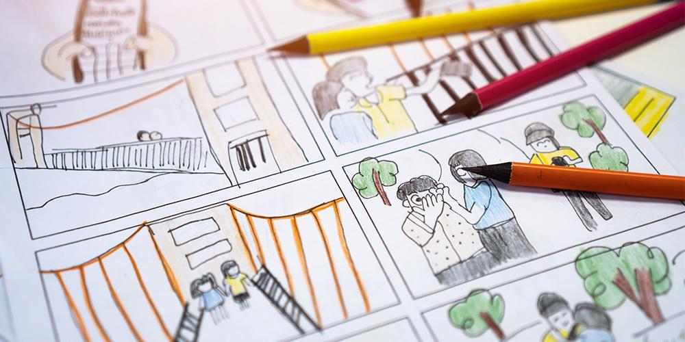 Comic drawings